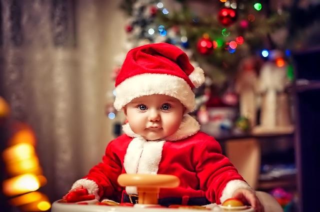 Младенец и Новый год.