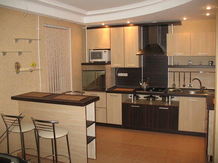 Дизайн кухни студии гостиной фото