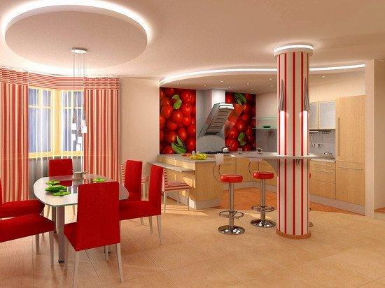 Идеи интерьера кухни столовой красота и уют