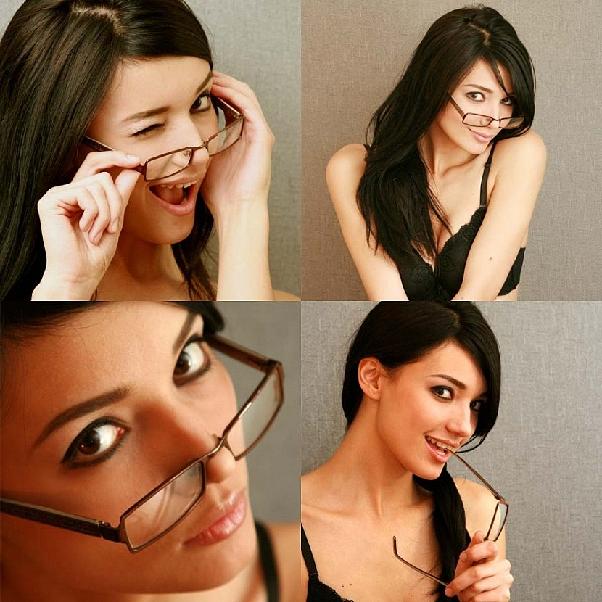 Как совместить макияж и очки фото и видео