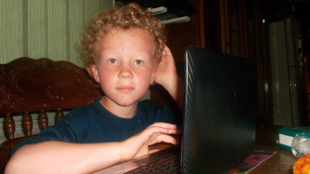Малыш и компьютер.