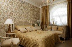 Стиль ампир интерьера спальни и гостиной
