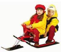 Дети на снегокате