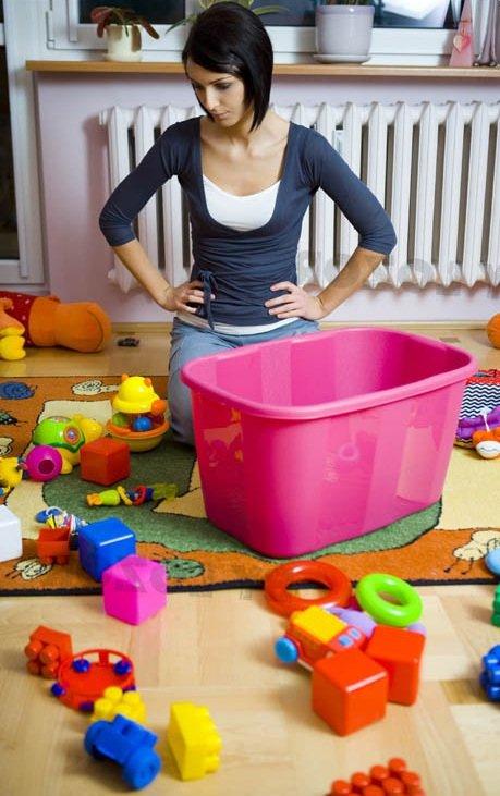 Генеральная уборка игрушек ребенка