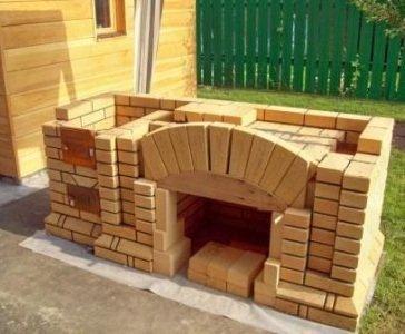 Как построить печь барбекю на даче