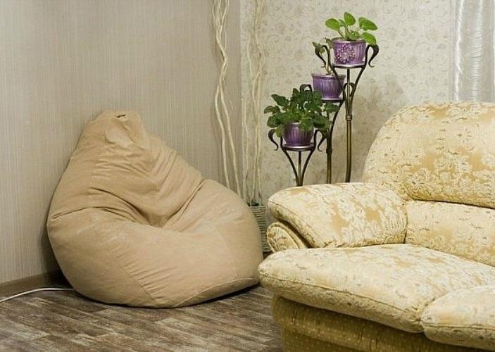 Мешки кресла в интерьере