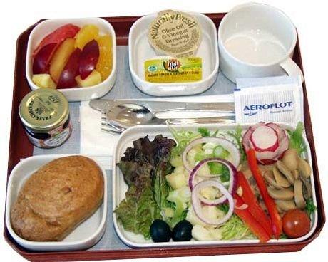 Питание в самолетах.