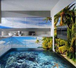 Наливные полы 3D в интерьере