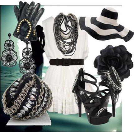 Черно-белое сочетание в одежде