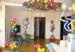 Оформление комнаты ко дню рождения