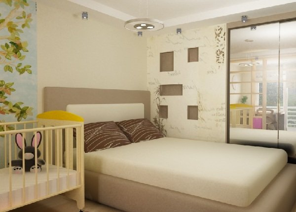 Совмещение спальни и детской