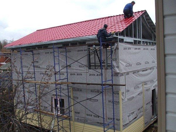 Быстровозводимое строительство - каркасный дом