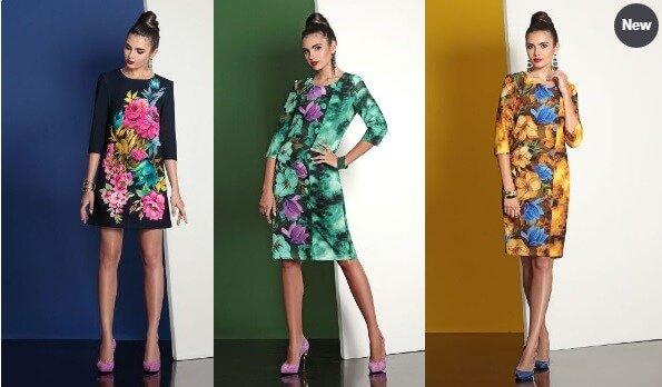 Яркие трикотажные платья белорусских производителей.