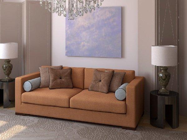 Коричневый диван 4