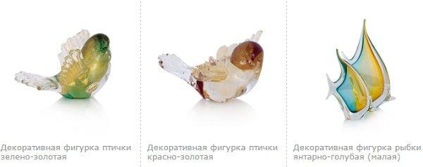 Элементы декора из муранского стекла