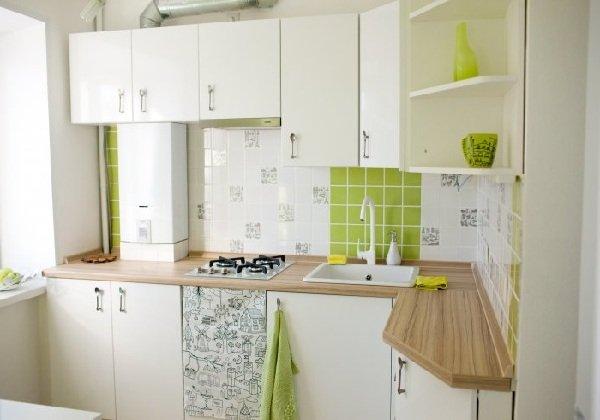 Кухня с газовой колонкой — фото и интерьер