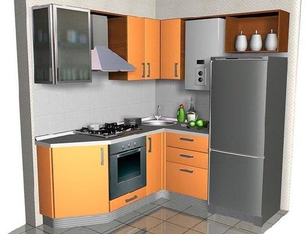 Кухня с газовой колонкой в хрущевке