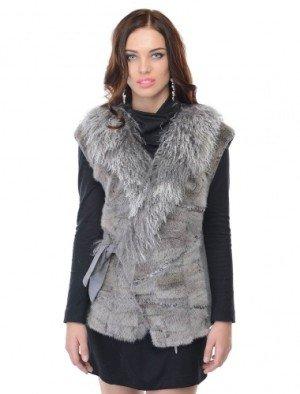 Меховые жилетки - как выбрать и с чем носить