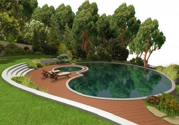 Строительство бассейна во дворе дома