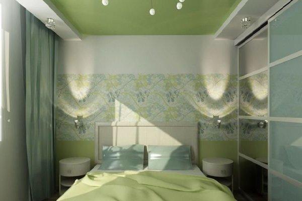 Натяжной потолок в спальне фото 4