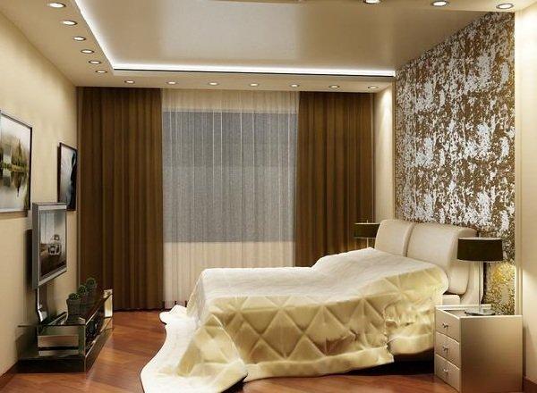 Натяжной потолок в спальне фото 7