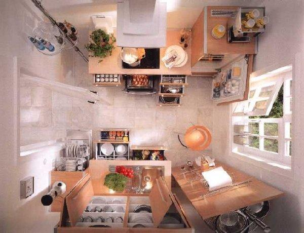 Обустройство маленькой кухни - Дизайн очень маленькой кухни