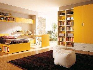 Желтый цвет в комнате - солнышко дома!