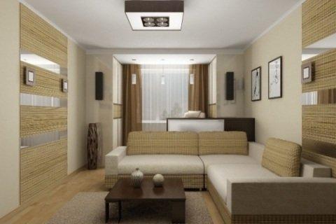 Интерьер однокомнатной квартиры.