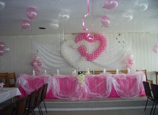 Оформление свадьбы шарами - идеи
