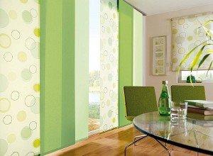 Японские шторы панели в интерьере жилья