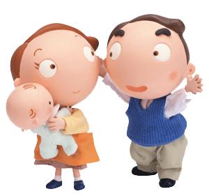 Счастливая семья и счастливые дети