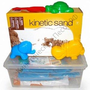 Кинетический песок и формочки для песка