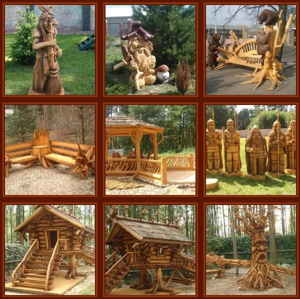 Украшаем садовый участок - изделия из дерева
