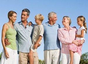Семейные ценности крепкой семьи.