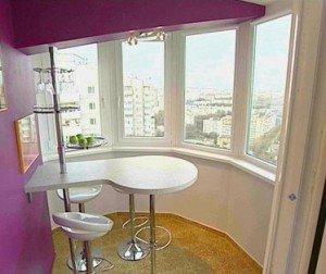 Дизайн балкона или лоджии нестандартной формы