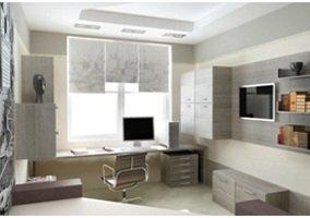 Дизайн кабинета в офисе