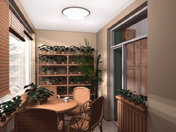 Дизайн лоджии или балкона средних и верхних этажей