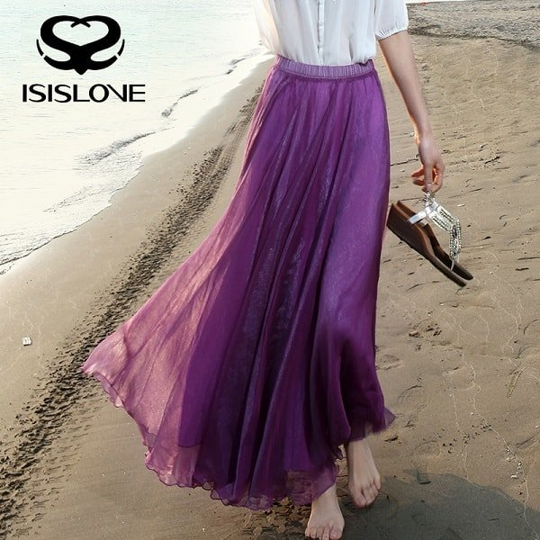 Длинные юбки летом снова в моде