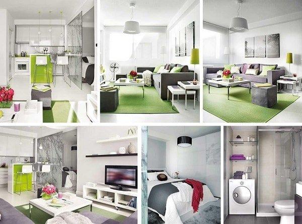 Идеи для организации пространства в маленькой квартире