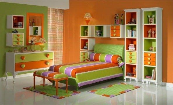 Варианты цвета интерьера для девочки
