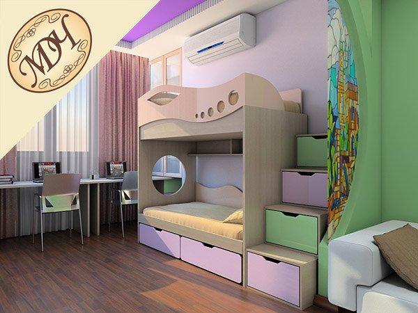 Дизайн детской комнаты дошкольника