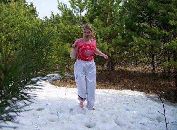 Хождение босиком по снегу