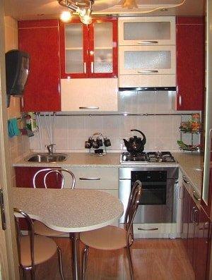 Интерьер для маленькой кухни.