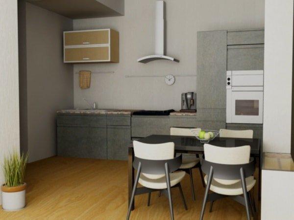 Минимализм дизайн кухни маленького размера