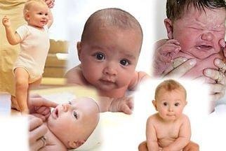 Развитие малыша от одного до шести месяцев