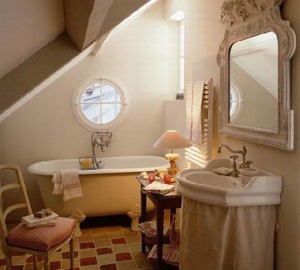 Интерьер ванной в стиле прованс