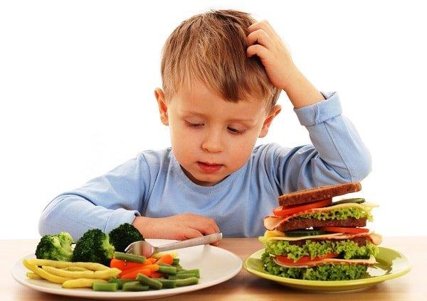 Правильное питание детей и взрослых.