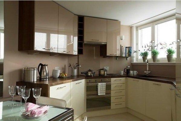 Идеи дизайна маленькой кухни в стиле модерн