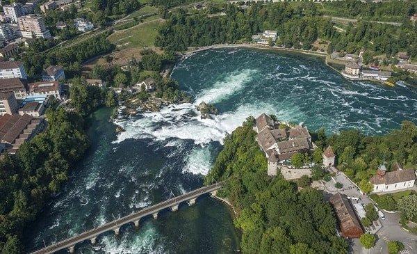 Путешествие в Швейцарию - Рейнский водопад