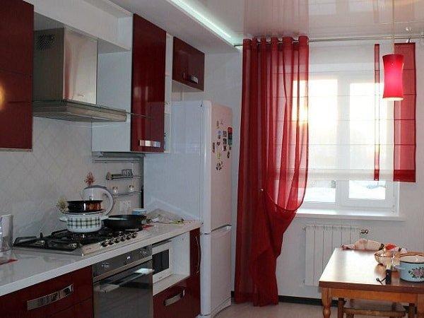 Шторы для маленькой кухни в стиле модерн